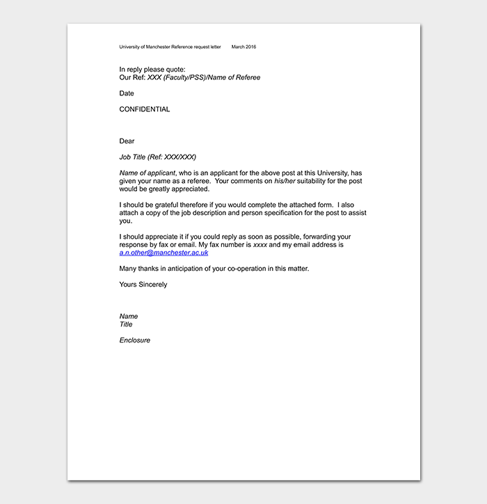 Reference Request Letter WORD