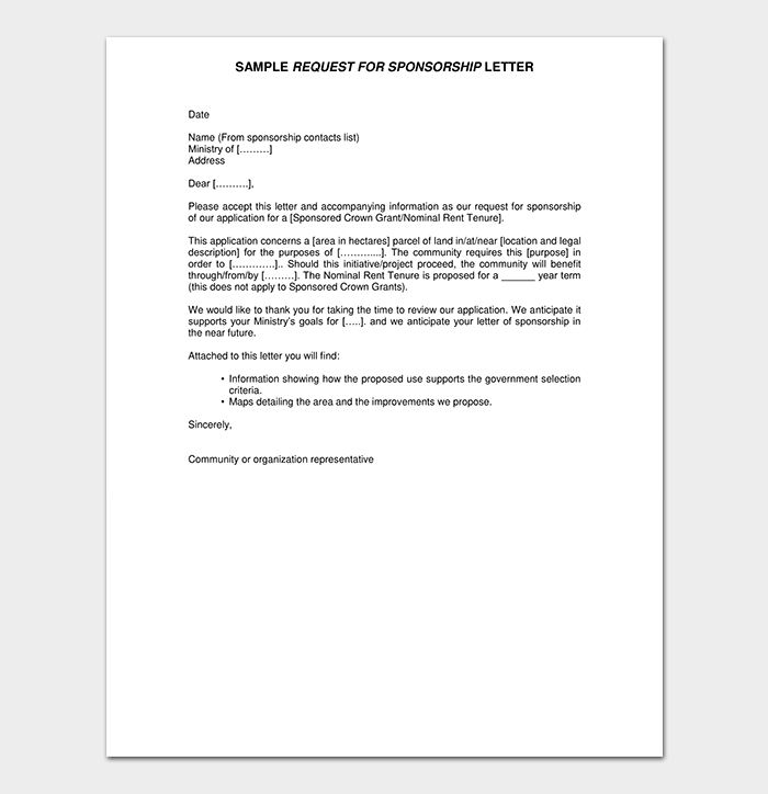 Sponsorship Request Letter Sample