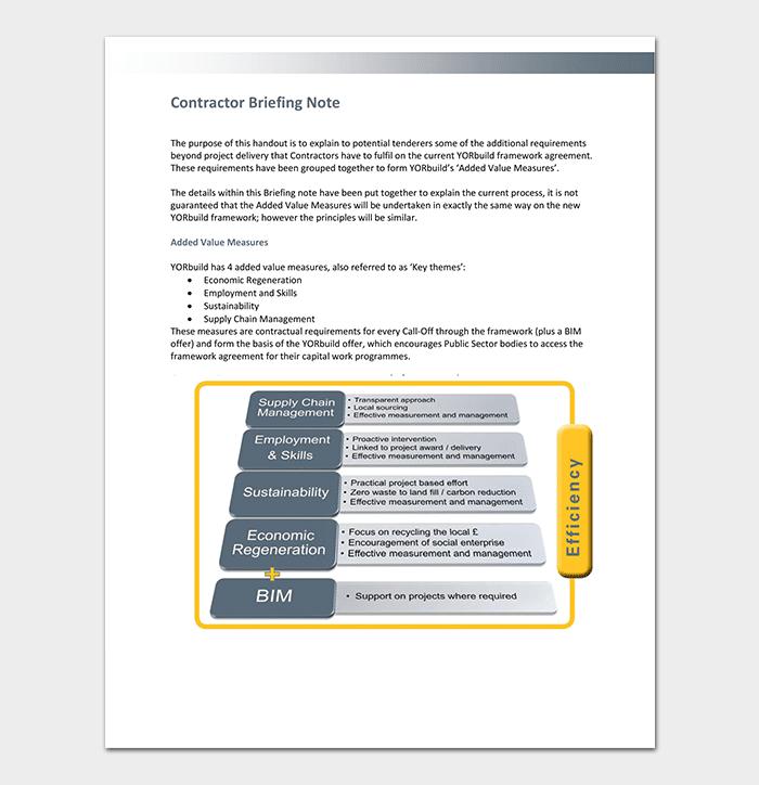Contractor Briefing Note