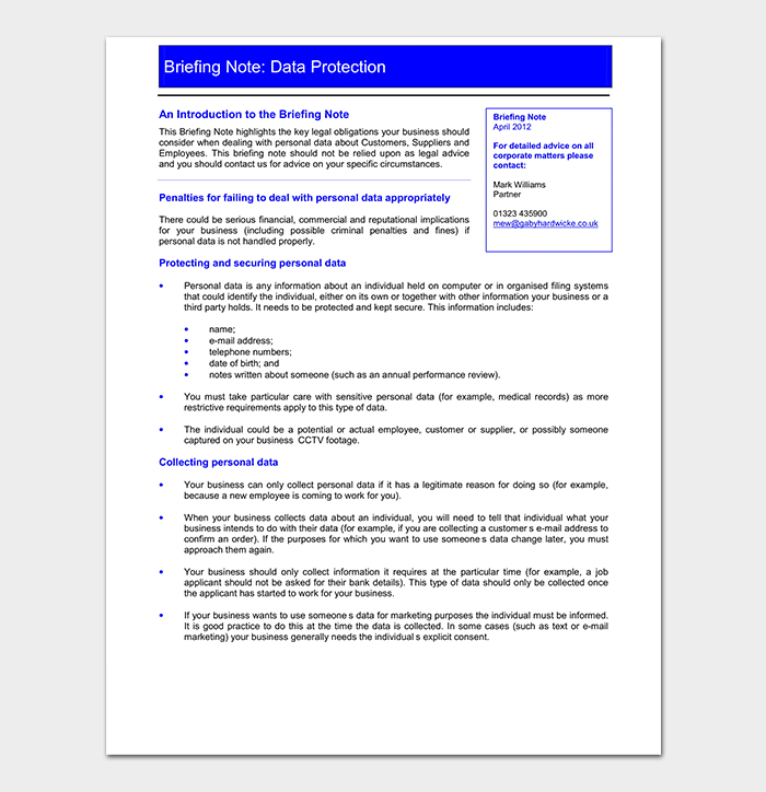 Data Protection and Research Briefing Note