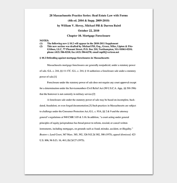 Defending Against Mortgage Foreclosures Promissory Note