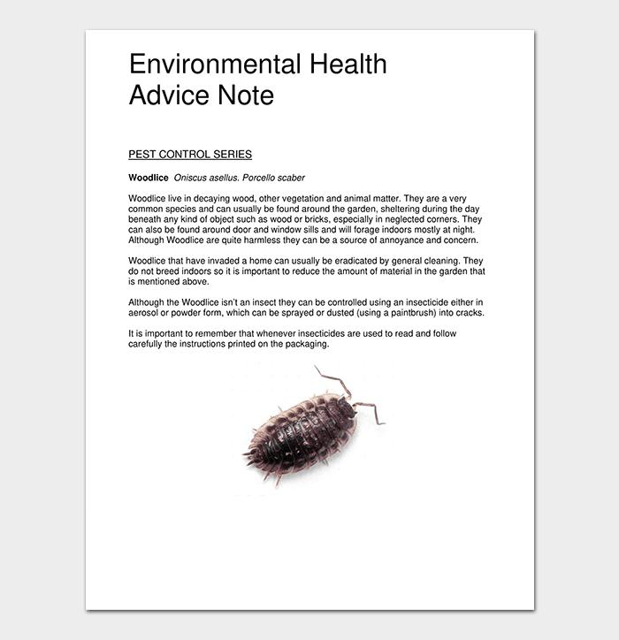 Environmental Advice Note