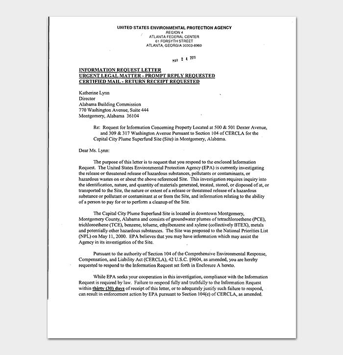 Information Request Letter PDF