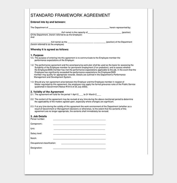 Standard Agreement