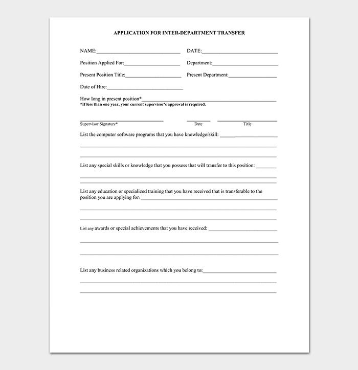 Department Change Request Letter Format Samples