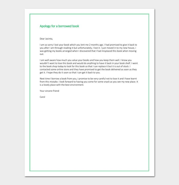 Apology Letter for Losing a Book - (How to Guide + Sample