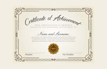 Certificate of Achievement: Sample Wording & Content