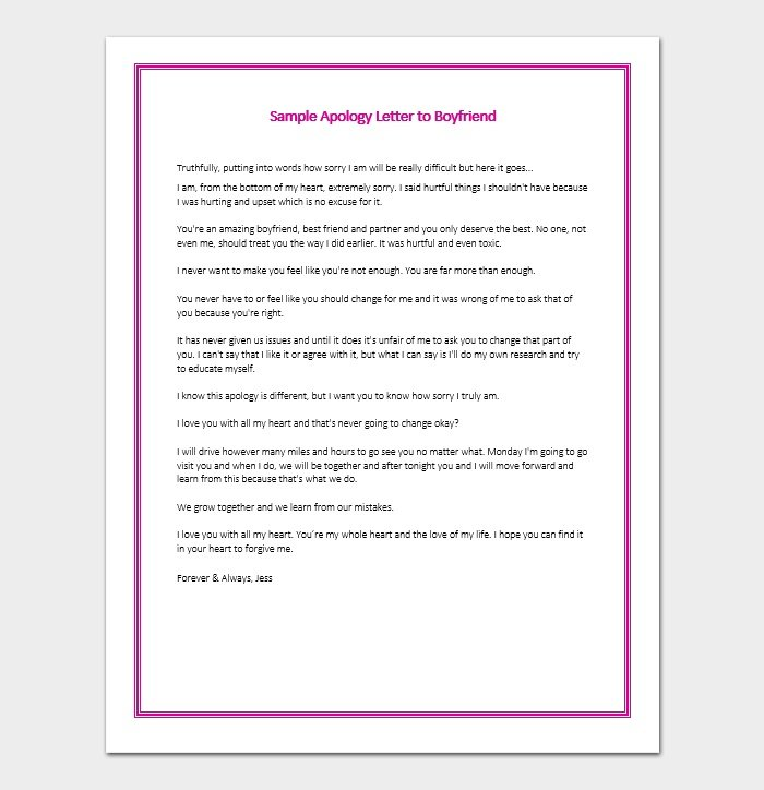 Apology Letter For Bad, Rude, or Unprofessional Behavior - 7+ Formats