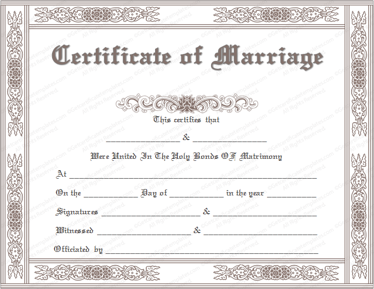 graphic regarding Printable Marriage Certificates referred to as Establish a Untrue Romance Certification (How toward Direct Pattern