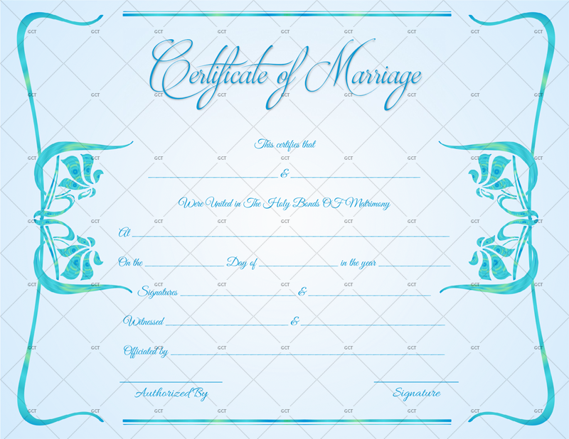 Contemporary Marriage Certificate Format (Word & PDF)