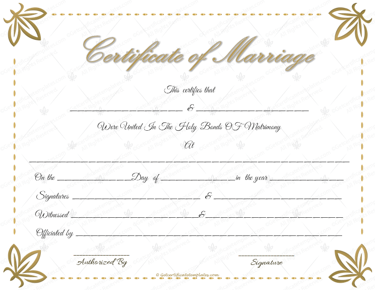 picture about Printable Marriage Licenses named Romance Certification Template - 22+ Editable (For Phrase PDF Layout)