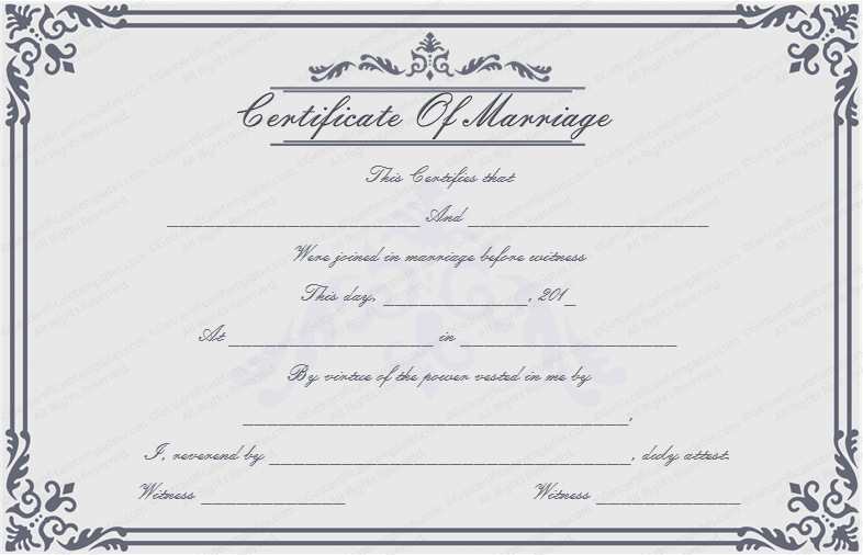 Dignified Marriage Certificate Template (Word Design)