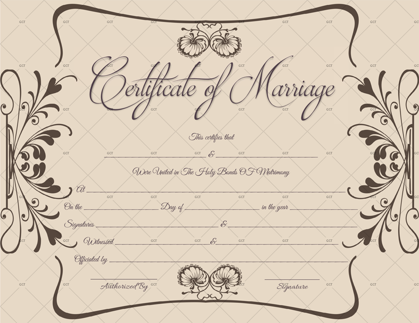 Marriage Certificate Template UK (Word Template)