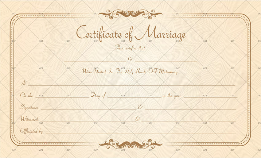 Marriage License Template (MS Word)