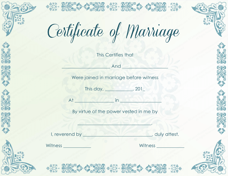 Crush image with printable marriage licenses