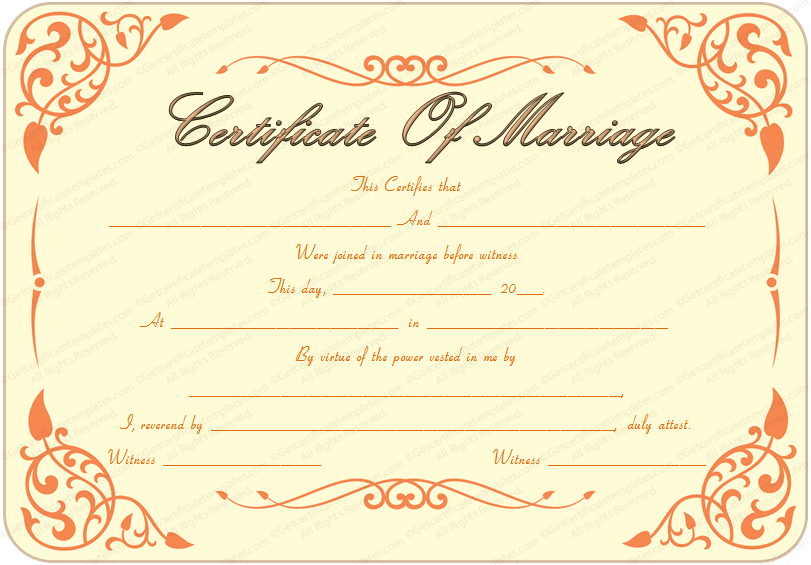 Gratifying image for printable marriage certificates