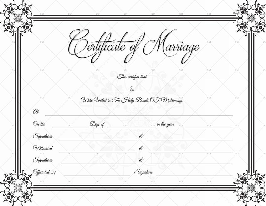Suave Marriage Certificate Template (Editable Template)