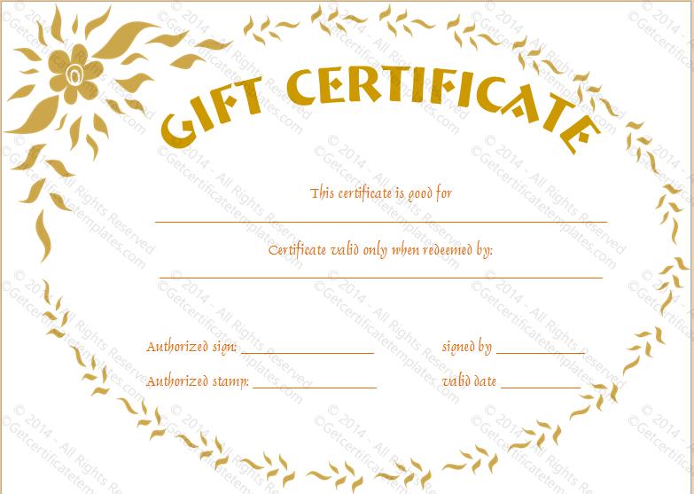 Golden Flower Gift Certificate