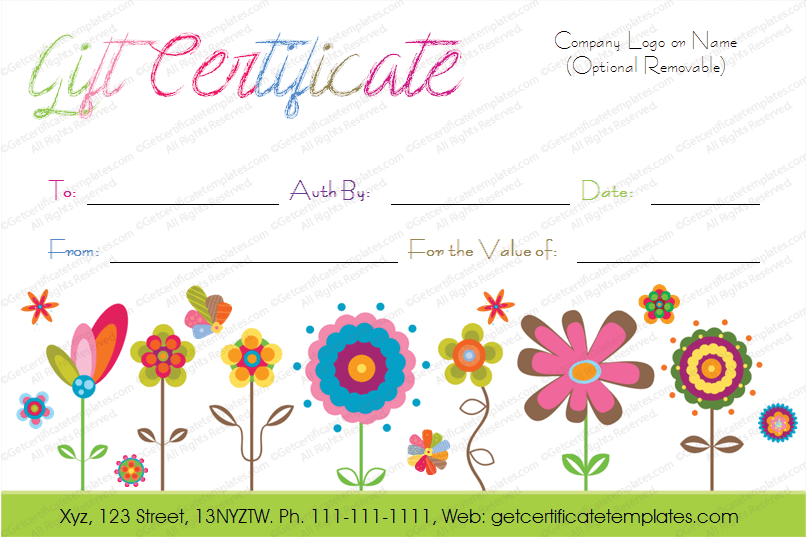 picture about Printable Gift Certificate Template named Birthday Present Certification Templates - Editable Printable