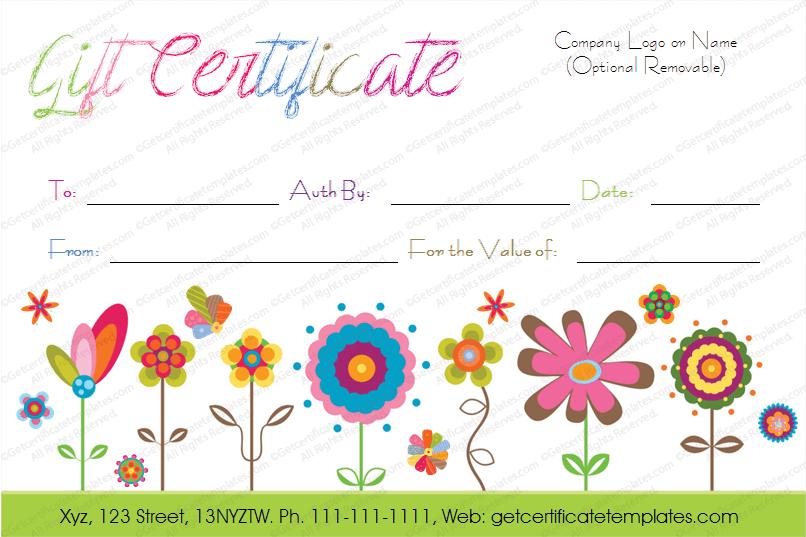 Printable Gift Certificate in WORD