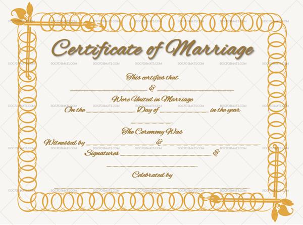 Marriage Certificate Template (Spiral, create marriage certificate)