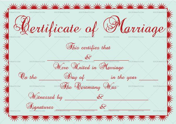 Marriage Certificate Template (Half Sun, create marriage certificate)