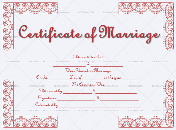 Marriage Certificate Template (Pastel Grey, Blank Template)