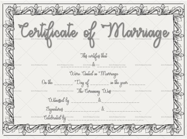 Marriage Certificate Template (Sketch, fancy marriage certificate)