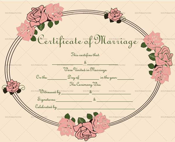 Marriage Certificate Template (Vintage, Editable Template)