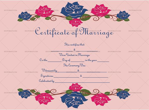 Marriage Certificate Template (Multi, Fillable Template)
