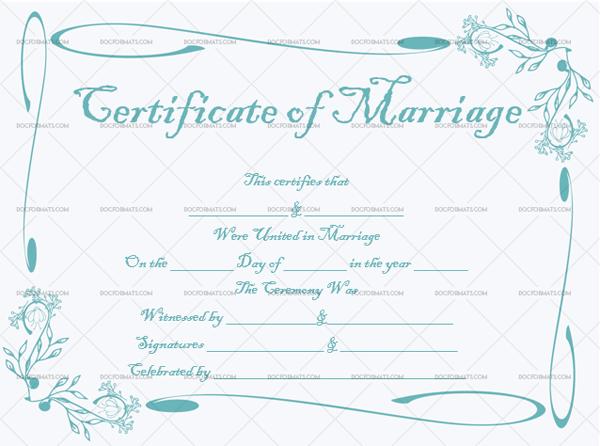 Marriage Certificate Template (Modern, create marriage certificate)