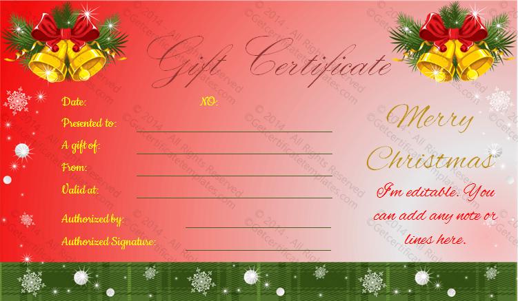 Bells-Christmas-Gift-Certificate(Christmas Gift Certificate Idea)