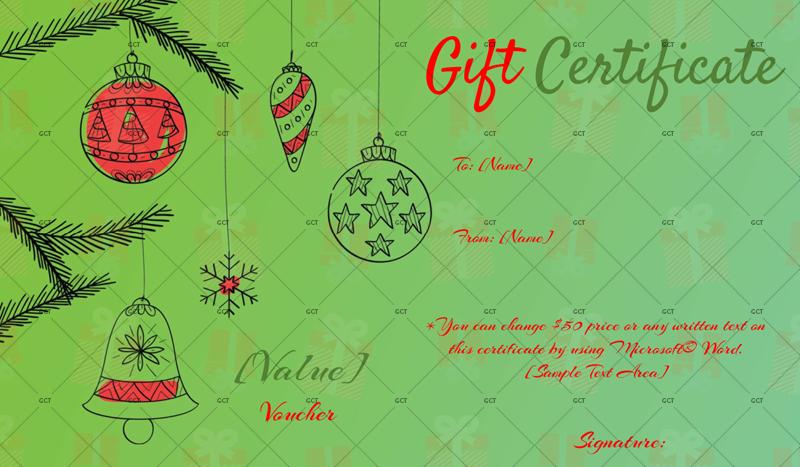 Christmas-Artistic-Gift-Certificate (Printable Christmas Gift Certificate)