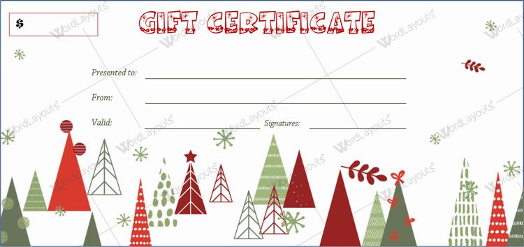 Christmas Certificate (Artistic, printable Christmas gift certificate)