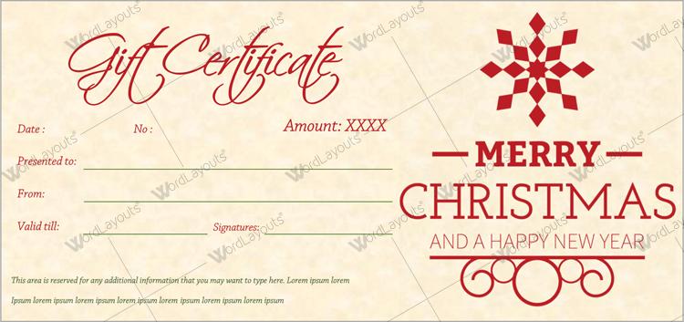 Christmas Certificate (Badge, create Christmas gift certificate)