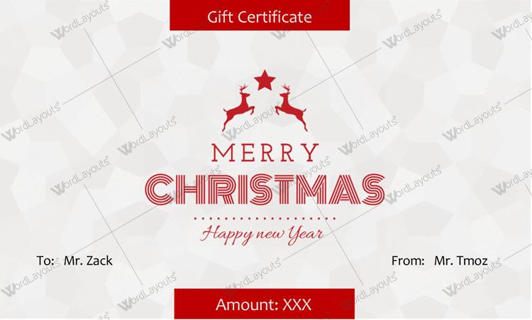 Christmas Certificate (Star, editable Christmas gift certificate)