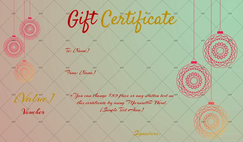 Christmas-Festive-Gift-Certificate (Christmas Gift Certificate Idea)