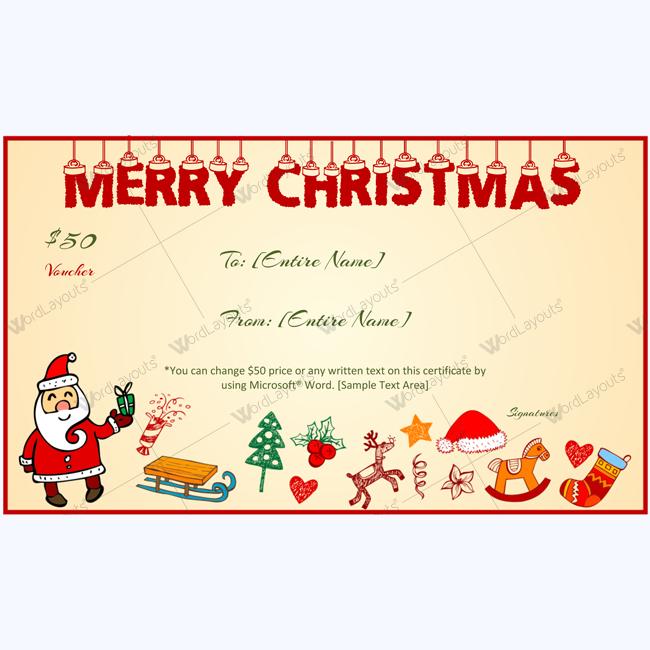Christmas Certificate Border.Christmas Gift Certificate Templates 99 Editable
