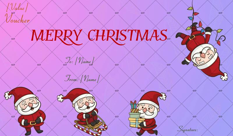 Christmas-Gift-Certificate Christmas Voucher Template)
