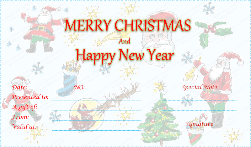 Christmas-Gift-Certificate (Christmas and New Year Gift Certificate)