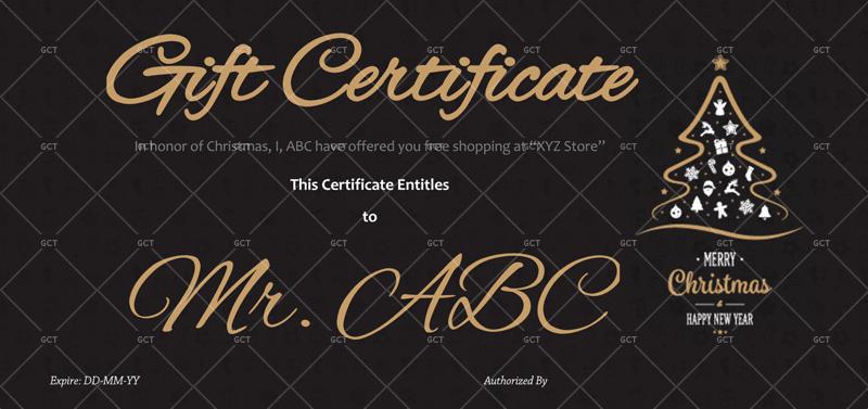 Christmas-Gift-Certificate-Dark-Background (Christmas and New Year Gift Certificate)