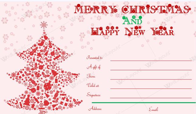 Christmas Gift Certificate (Elegant, editable Christmas gift certificate)
