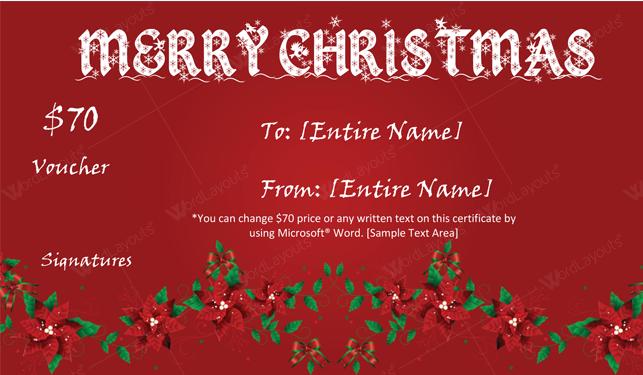 Christmas Gift Certificate (redshine, printable Christmas gift certificate)