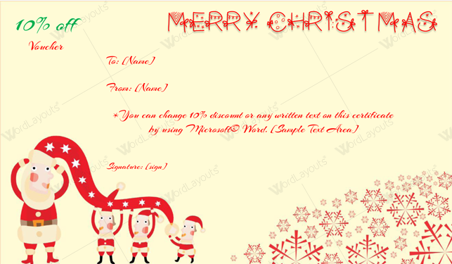Christmas Gift Certificate (Funky, customizeable Christmas gift certificate)