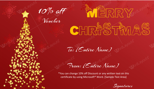 Christmas Gift Certificate (Stars, customizeable Christmas gift certificate)