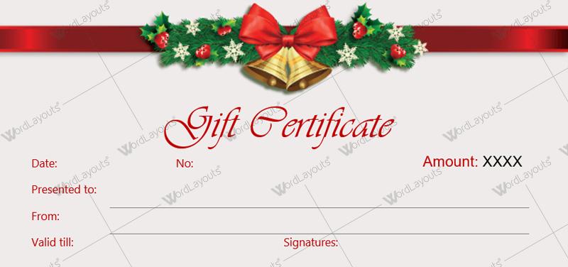 Christmas Gift Certificate (pattern, voucher design template)