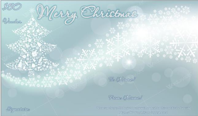 Christmas Gift Certificate (sky, Printable and Editable)