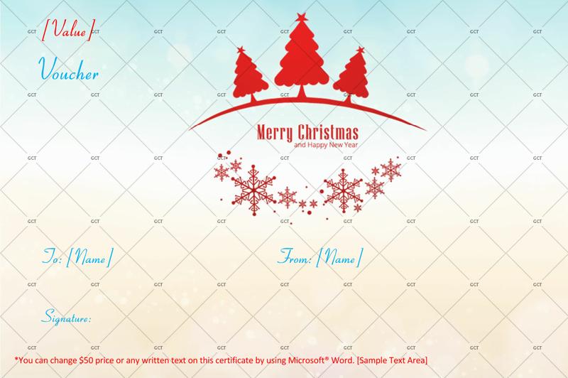 Christmas-Gift-Certifificate (Christmas Money Voucher Template)