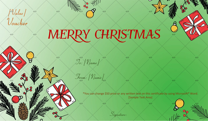 Christmas-Gift-Decorative-Certificate (Christmas Gift Certificate Idea)