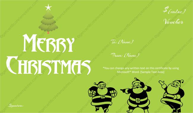Christmas-Gift-Template (Christmas Money Voucher)